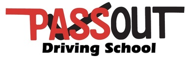 Pass out logo with driving school